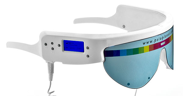 Présentation du mind booster PSiO, l'appareil de stimulation audiovisuelle.